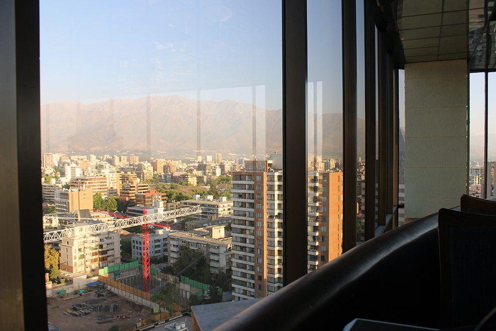 restaurante giratório em Santiago